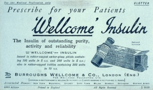 Wellcome's insulin Ad in 1923