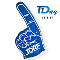 T1D Blue Finger Graphic