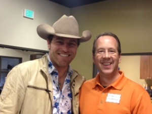Country Singer George Canyon and We R the Cure Editor Mike Anderson