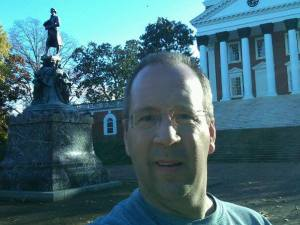 Mike Anderson at UVA Rotunda